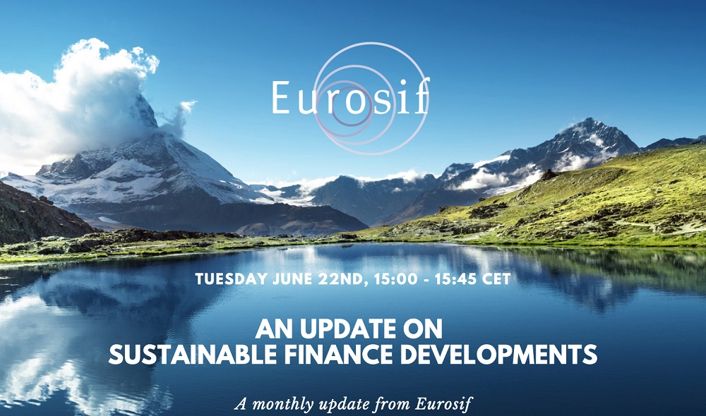 Eurosif – An update on Sustainable Finance Developments – June edition - Preview Image