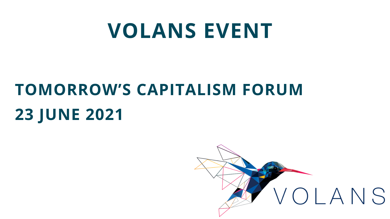 Tomorrow's Capitalism Forum 2021 - Preview Image